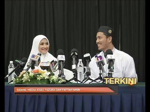Sidang media khas Fattah Amin dan Nur Fazura