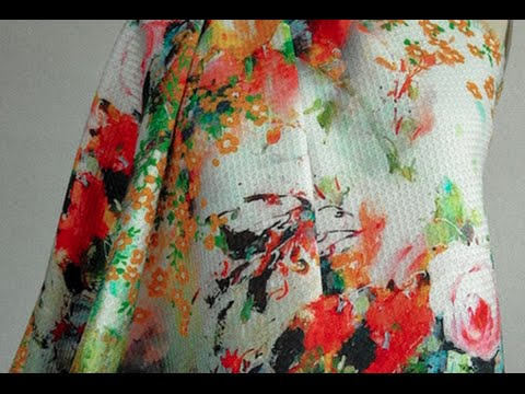 Pique Fabrics with Digital Floral Prints; Summer is Here!