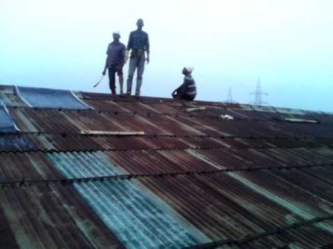 Tar Sheet On The Roof Youtube