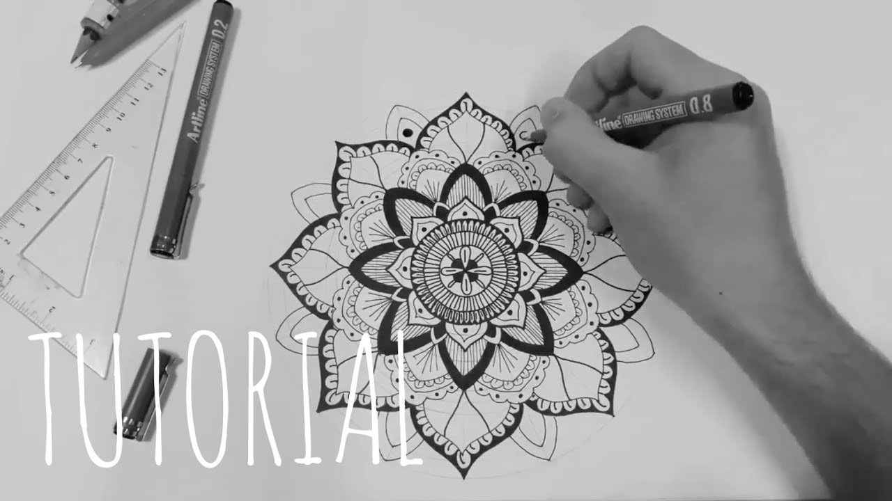 Mandala Nasil Cizilir Adim Adim How To Draw A Mandala Step By
