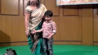 """Ayush reciting """"Bhoi peo na"""" by Sukumar Roy"""