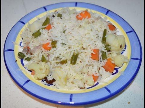 White Veg Pulao (Simple Vegetable Pulao)  Recipe