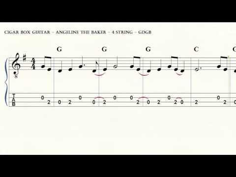cigar box guitar - angeline the baker - 4 string - gdgb