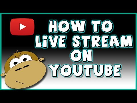 How To Set Up A Live Stream On YouTube - So Easy A Monkey Can Do It