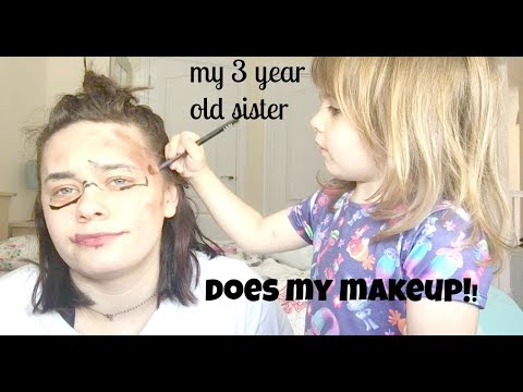 my 3 year old sister does my makeup! - Beth Rollings
