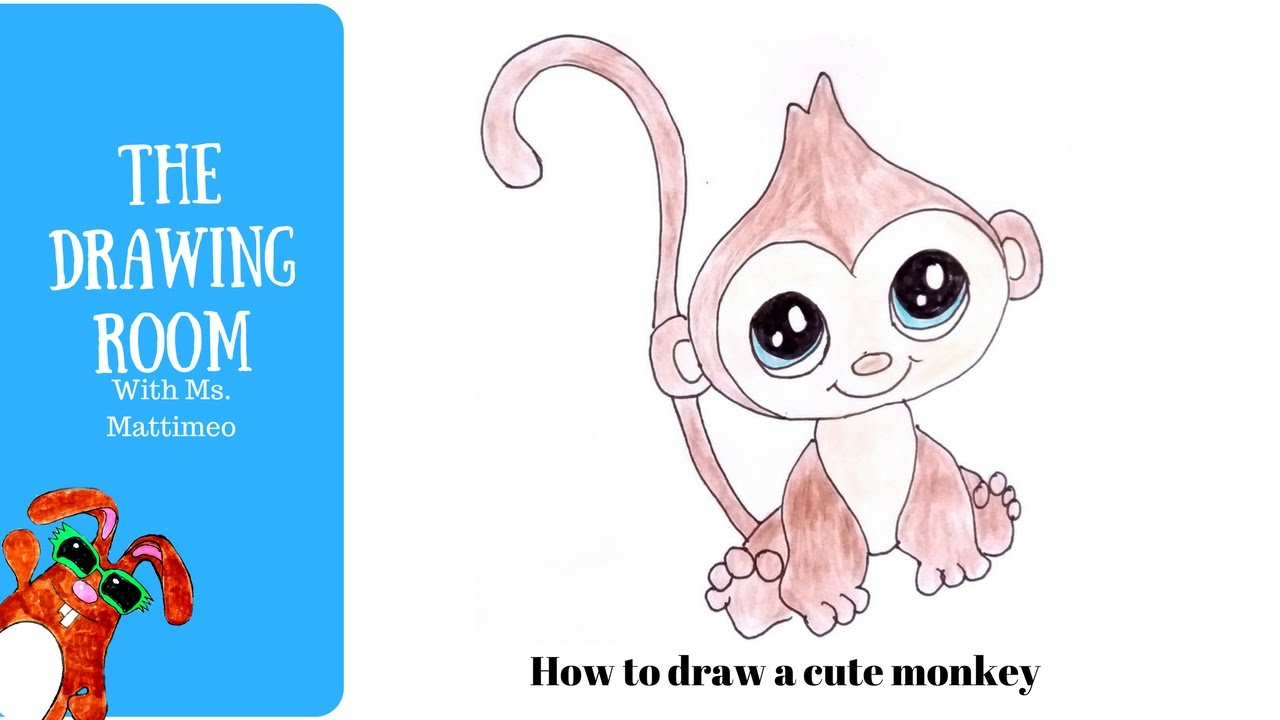 Uncategorized How To Draw A Cute Monkey how to draw a cute monkey animals youtube animals