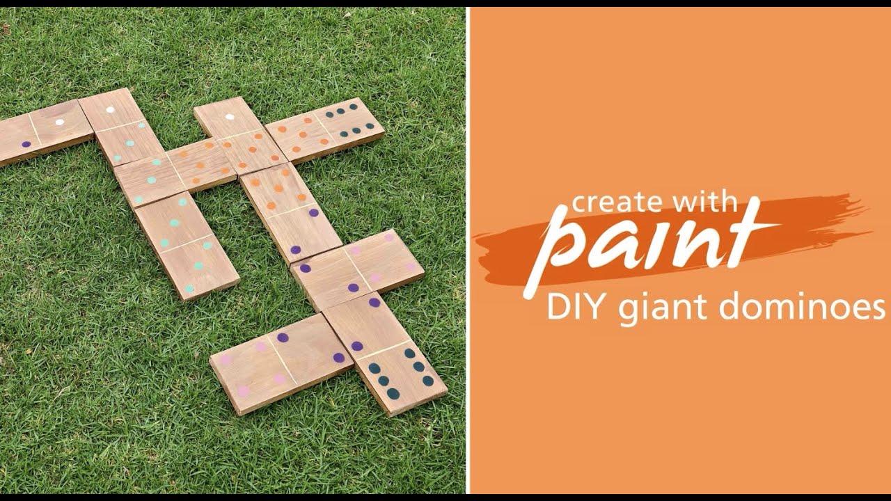 Habitat TV Video: DIY lawn games: Make your own dominoes set