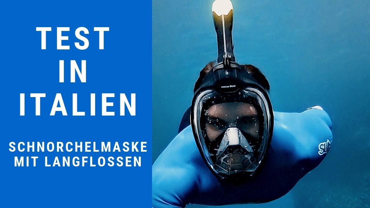 Vollgesichtsmaske Schnorchelmaske Taucherbrille Fullface Tauchermaske Profi