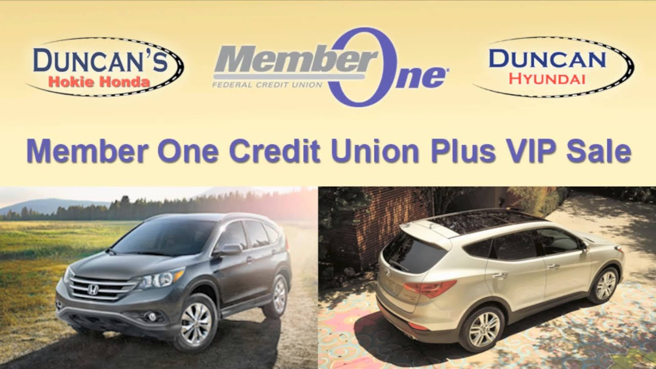 Duncan Honda, Duncan Hyundai And Member One VIP Plus Sale