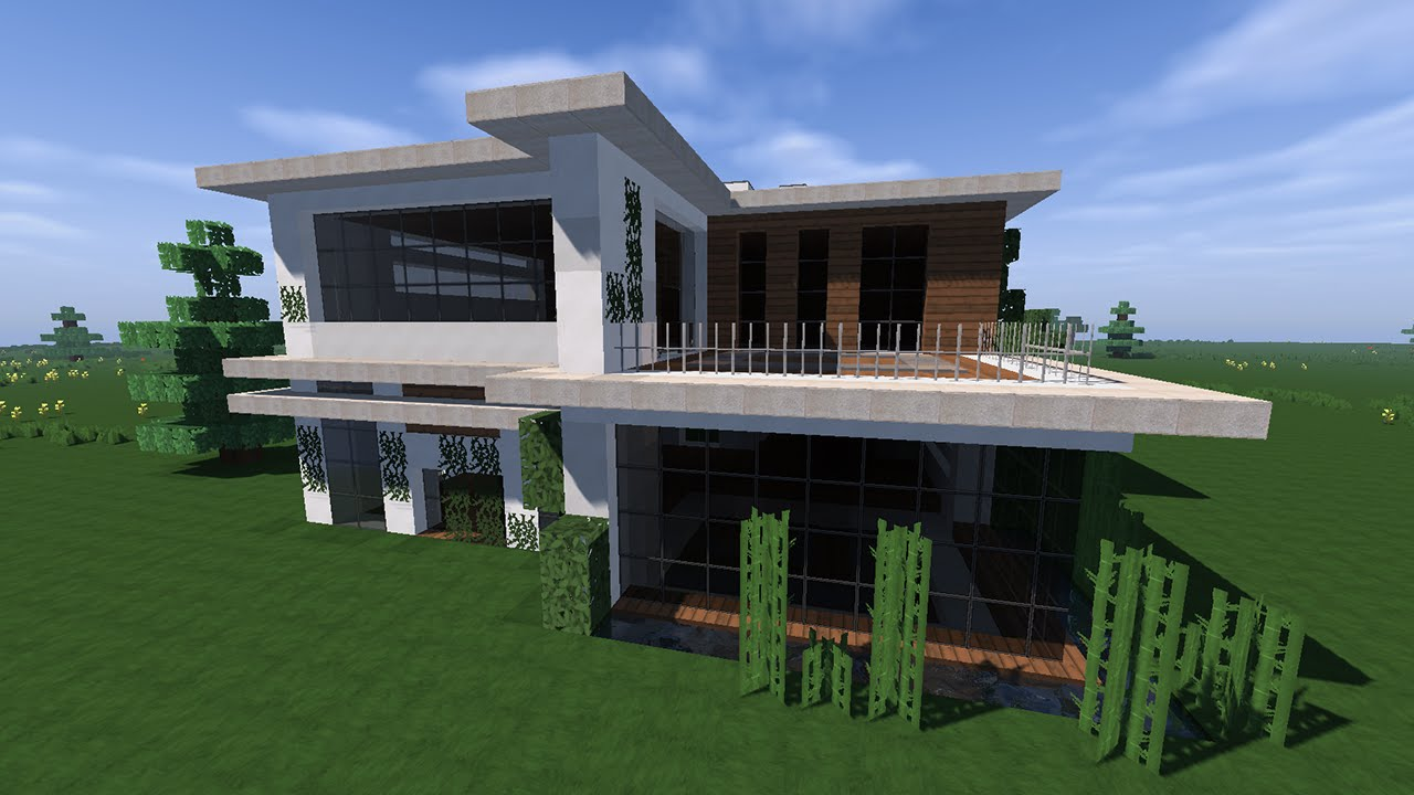 Minecraft visite d 39 une maison moderne youtube for Visite virtuelle maison moderne