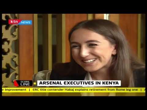 Scoreline: Arsenal executives in Kenya