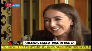 Scoreline: Arsenal executives in Kenya