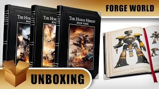 Unboxing: Forge World Horus Heresy Book Collection