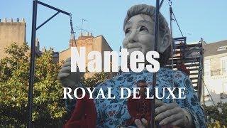 Exclusif ! Royal de Luxe - petit géant et grand mère se promènent à Nantes, France, Europe - GoPro