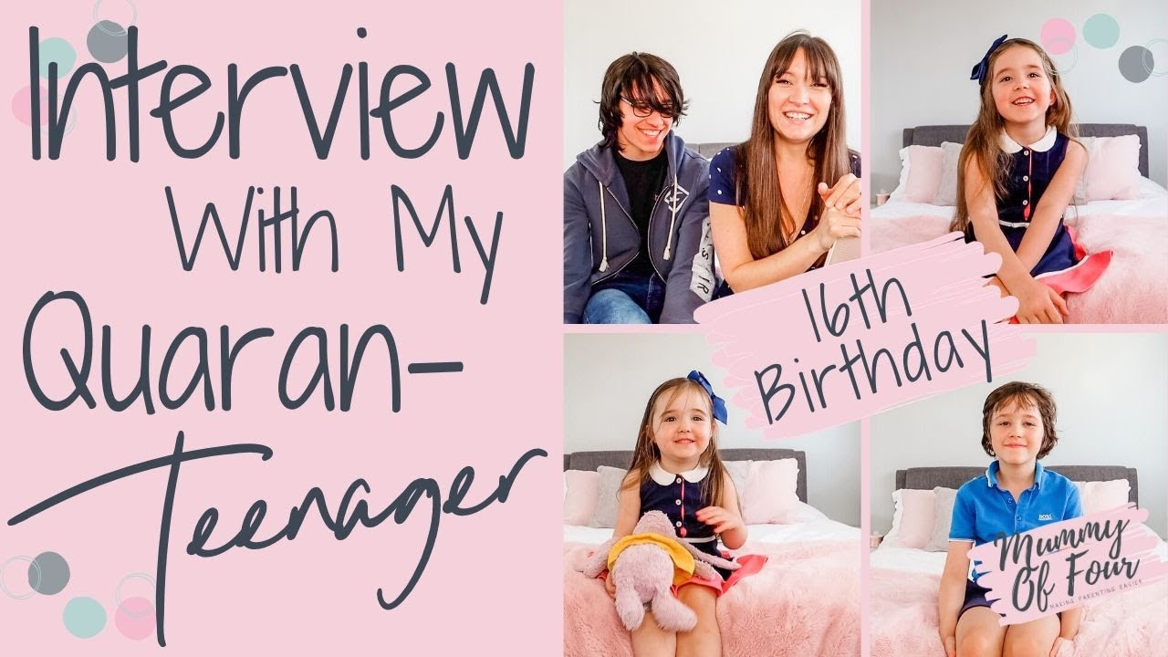 BIRTHDAY Q&A BIRTHDAY INTERVIEW WITH A TEENAGER | CHATTY VLOG | MUMMY OF FOUR UK