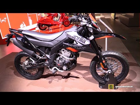 2018 Aprilia SX 125 - Walkaround - 2017 EICMA Milan Motorcycle Exhibition