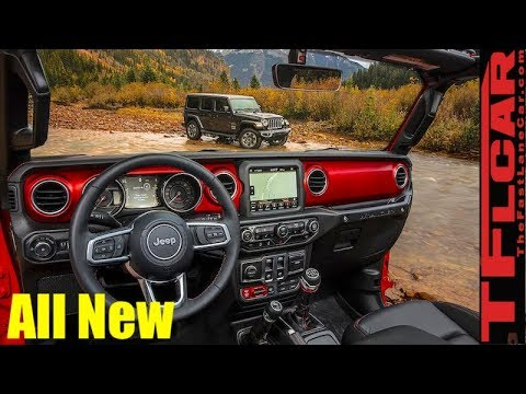Stop The Presses All New 2018 Jeep Wrangler Jl Interior Revealed