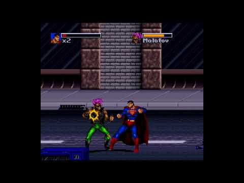 The Death and Return of Superman SNES Gameplay