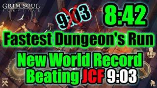 Grim Soul Dark Fantasy : #63🔥Fastest Dungeon's Run🔥(Setting New World Record 8:42)🔥
