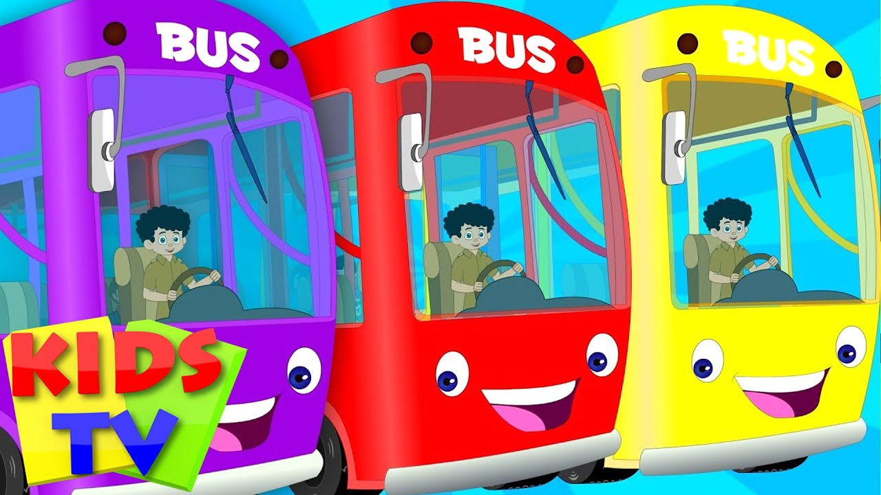 English Wheels On The Bus Kids Playlist Kids Tv Baby