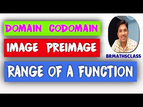 DOMAIN, CODOAMIN, IMAGE, PREIMAGE AND RANGE OF A FUNCTION( FUNCTIONS CHAPTER CLASS 2 )