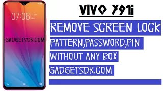 How to remove vivo y91i pattern lock