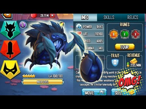 ●Monster Legends - IXOFEX level 130 vs General Darmith Tryon Dracontium combat review