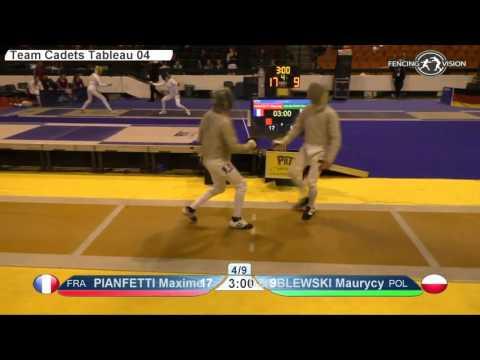 FE M S Team Cadets NoviSad ZC 2016 P3 yellow France FRA vs Poland POL