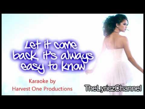 Selena Gomez & The Scene - Intuition [Karaoke] + On Screen Lyrics