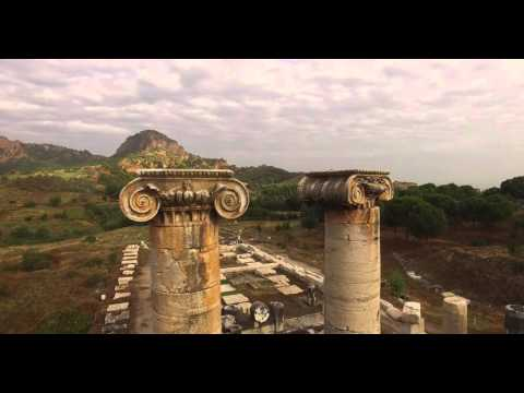 Drone Flight over Sardis: The Temple of Artemis