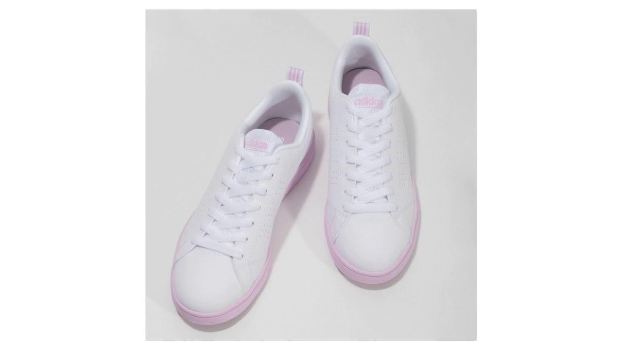 019a50c627e Dámské bílé tenisky s růžovou podešví Adidas - YouTube