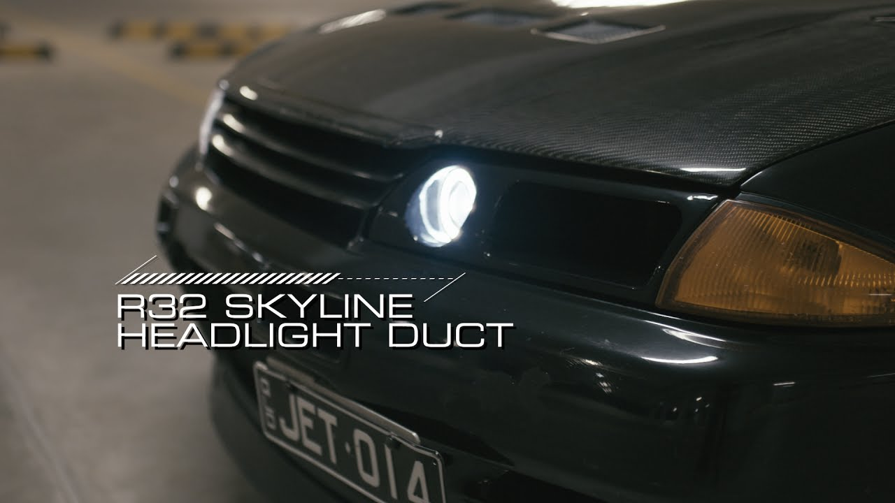 R32 Skyline Headlight Duct with working light - by Motive DVD