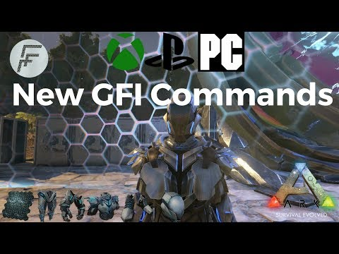 ARK: Survival Evolved How to use the new GFI Commands and go to the center map.