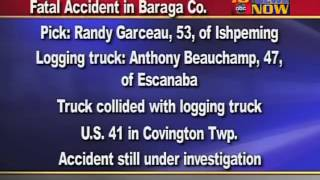 Fatal Accident In Baraga Co