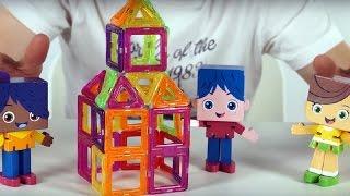 Друзья Йоко и синий трактор строят замок из магнитного конструктора - Поиграйка с Егором -