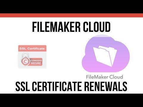 FileMaker Cloud SSL Certificate Renewals | FileMaker Cloud | FileMaker 15 Training