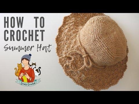 Crochet Summer Hat For Beginners
