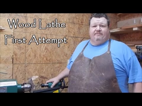 1st Attempt at Wood Turning pt 1 How-To (How Not To!)