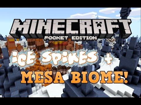 MESA + ICE SPIKES 3 VILLAGES SEED! Minecraft Pocket Edition