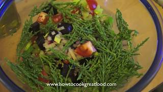 Samphire Watercress Beetroot Bacon Salad With A Tarragon Mint Dressing British English