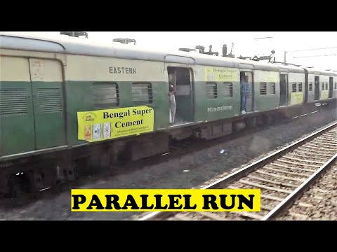 Howrah Barddhaman EMU Parallel Run Belur
