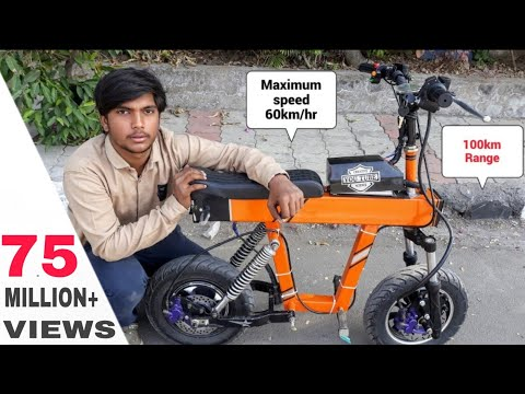 how to make Mini Electric Motorcycle at home || DIY PROJECT Creative science