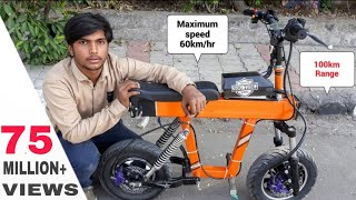 how to make Mini Electric Motorcycle at home  DIY PROJECT Creative science
