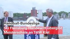 Handball-Bundesliga: SG Flensburg-Handewitt übergibt Meisterschale an THW Kiel