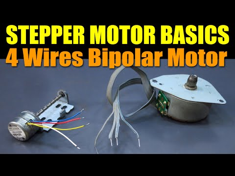Stepper Motor Basics - 4 Wires Bipolar Motor