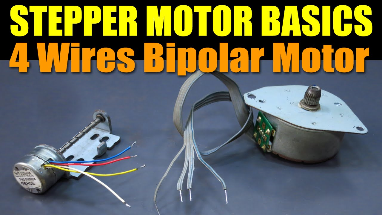 small resolution of stepper motor basics 4 wires bipolar motor youtube 4 wire stepper motor wiring