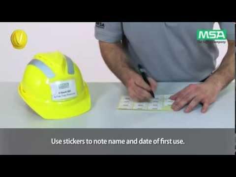 MSA V-Gard Helmet System: Helmet Donning and Adjustments