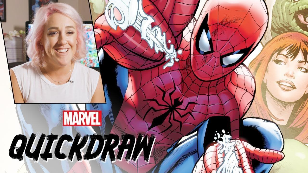 Artist Rachelle Rosenberg colors Spider-Man   Marvel Quickdraw