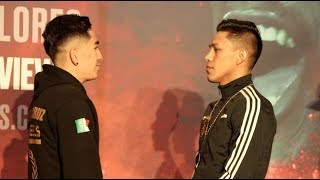 ALL MEXICAN CLASH! - LEO SANTA CRUZ v MIGUEL FLORES (OFFICIAL) HEAD-TO-HEAD @ MGM GRAND / FOX PPV