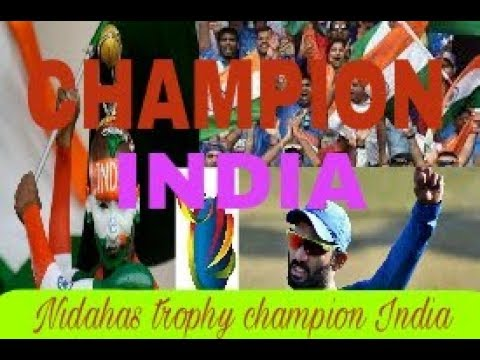 India vs bangladesh match! !  18/03/2018